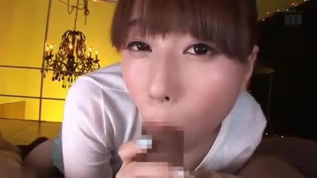 【初川みなみ】ロリかわ巨乳美女の主観フェラ&足コキで大量顔射!